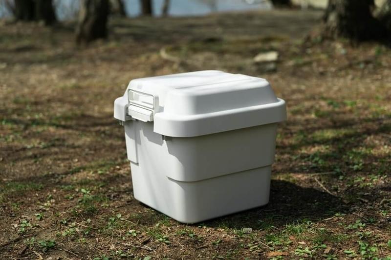 N-WGNでデイキャンプ。キャンプにおすすめのコンテナ・無印良品のポリプロピレン頑丈収納ボックス