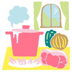 01 一白水星の開運、ピーマンや玉ねぎの料理のイメージ