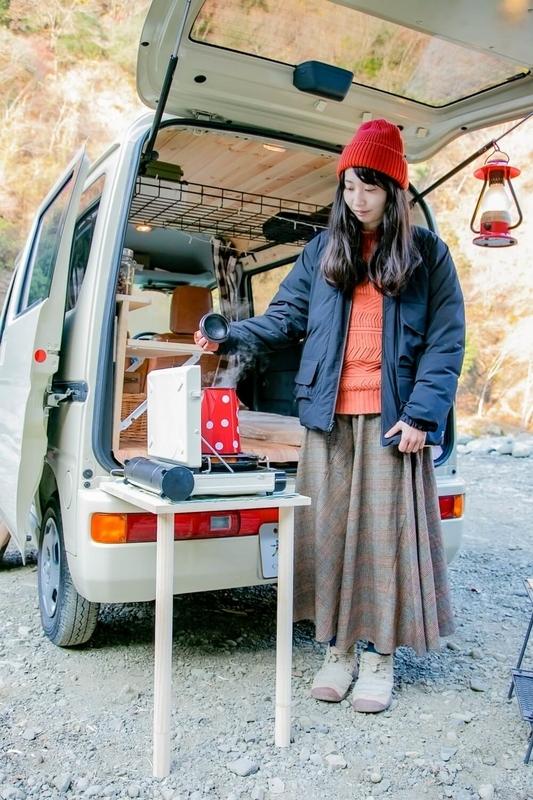 森風美さんがDIYで制作したキッチンテーブル