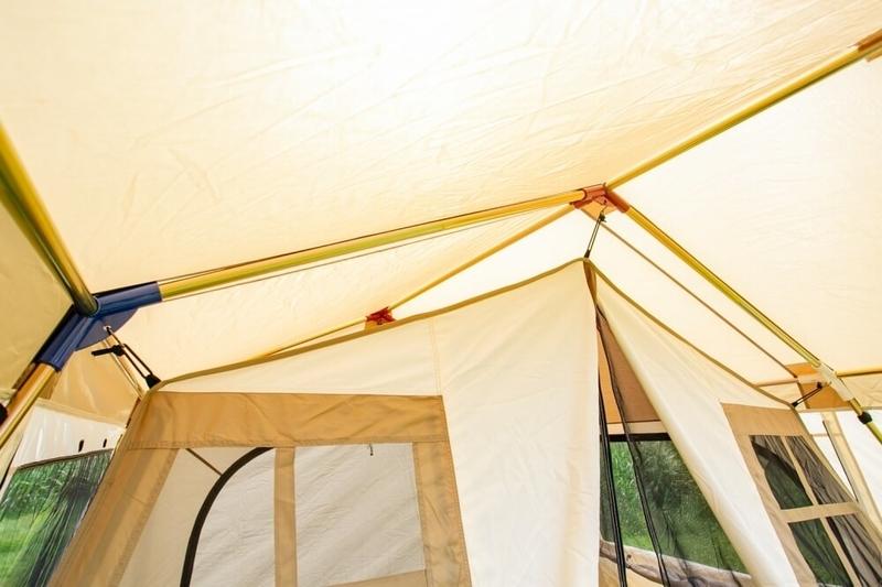 ogawaの鉄骨テントの特徴であるフレーム部分の画像