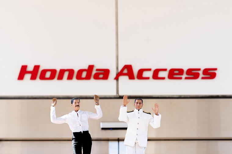 ホンダアクセスにやってきたミフネさんとヨシダさん
