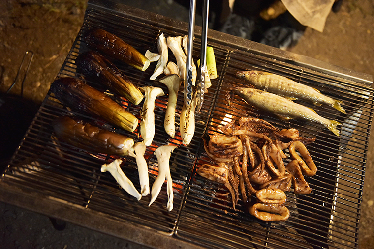 キャンプで楽しんだ肉料理