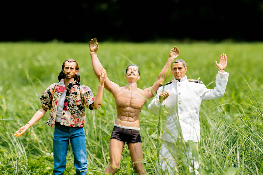 キャンプ場についたミフネさん、ヨシダさん、ニコラス