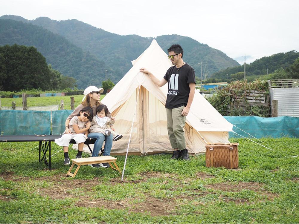 家族でお泊りキャンプをしたときの様子