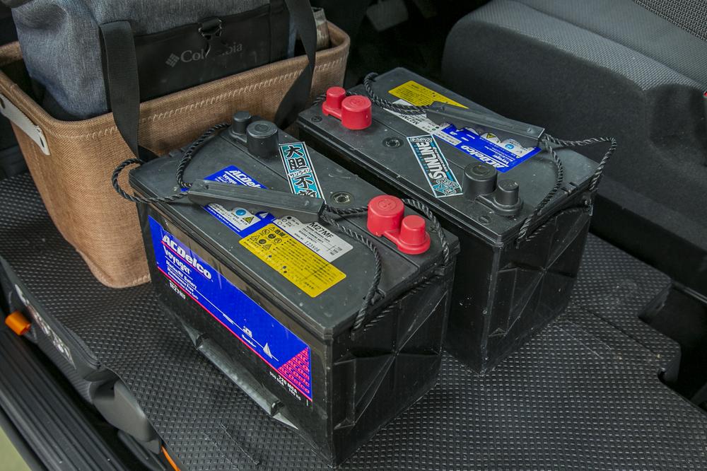 釣り船用のバッテリー