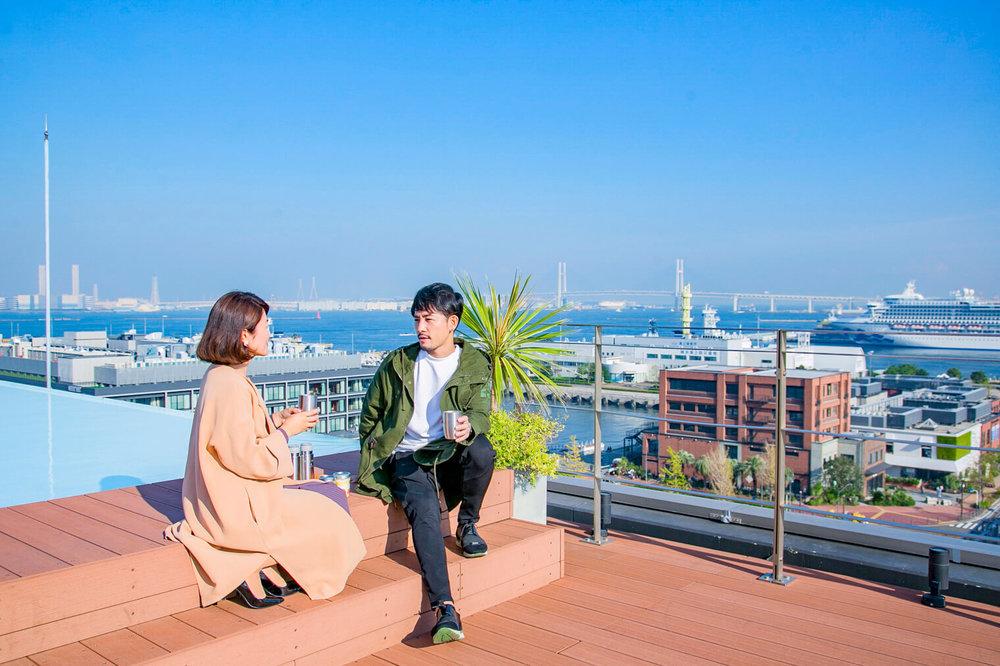 バチェラー小柳津林太郎の横浜デート、グランドオリエンタルみなとみらいの屋上でグランピング