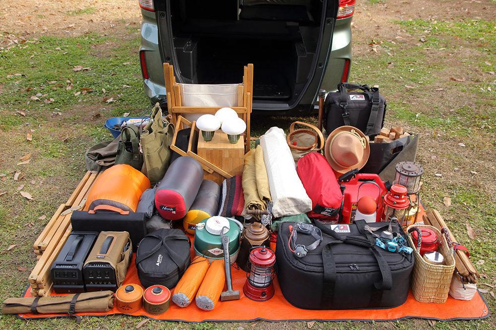 家族3人分のキャンプ道具一覧