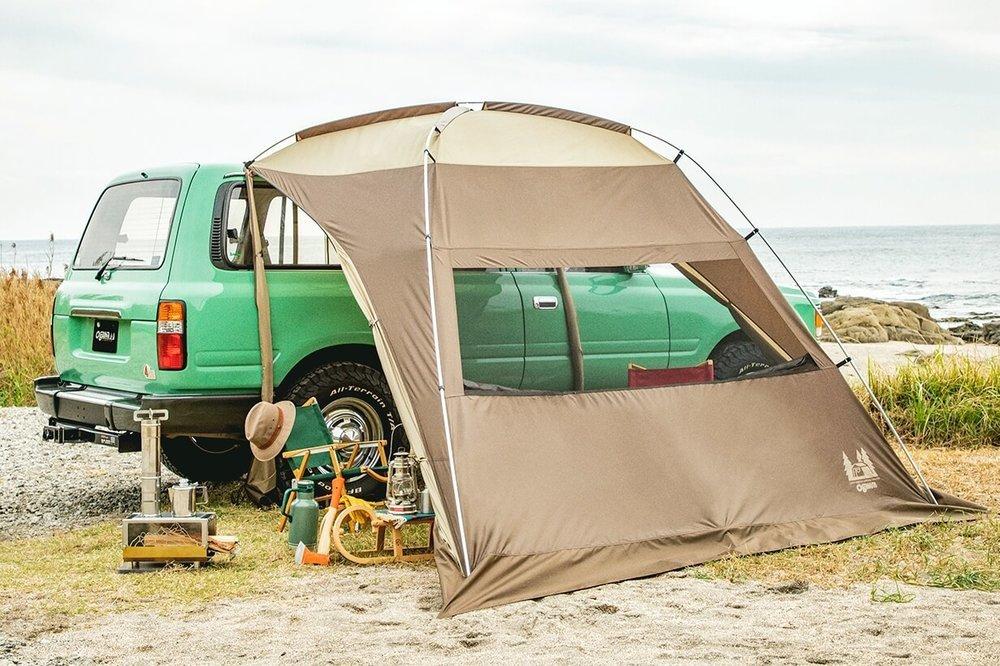 車中泊のプロがおすすめ便利グッズ、車中泊の必需品、装備と道具を紹介。ogawa( キャンパルジャパン)のカーサイドシェルター