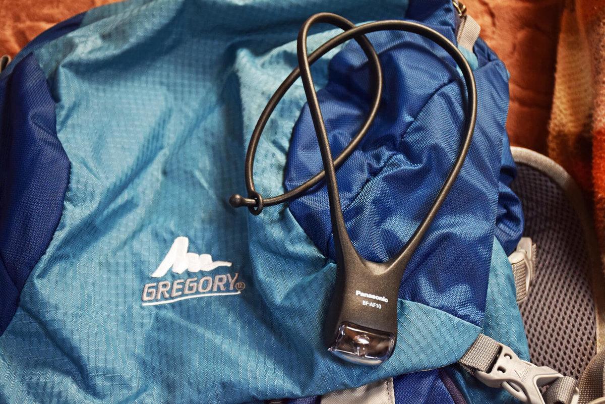 車中泊のプロがおすすめ便利グッズ、車中泊の必需品、装備と道具を紹介。パナソニックのネックライト