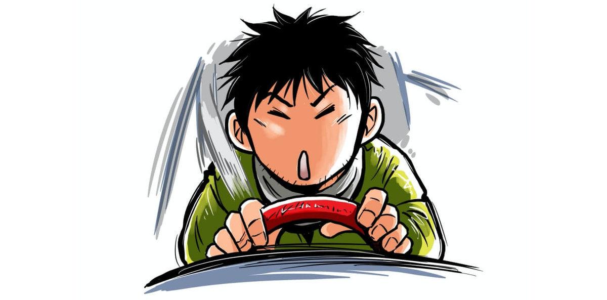 車中泊漫画家井上いちろうのプロフィールイラスト