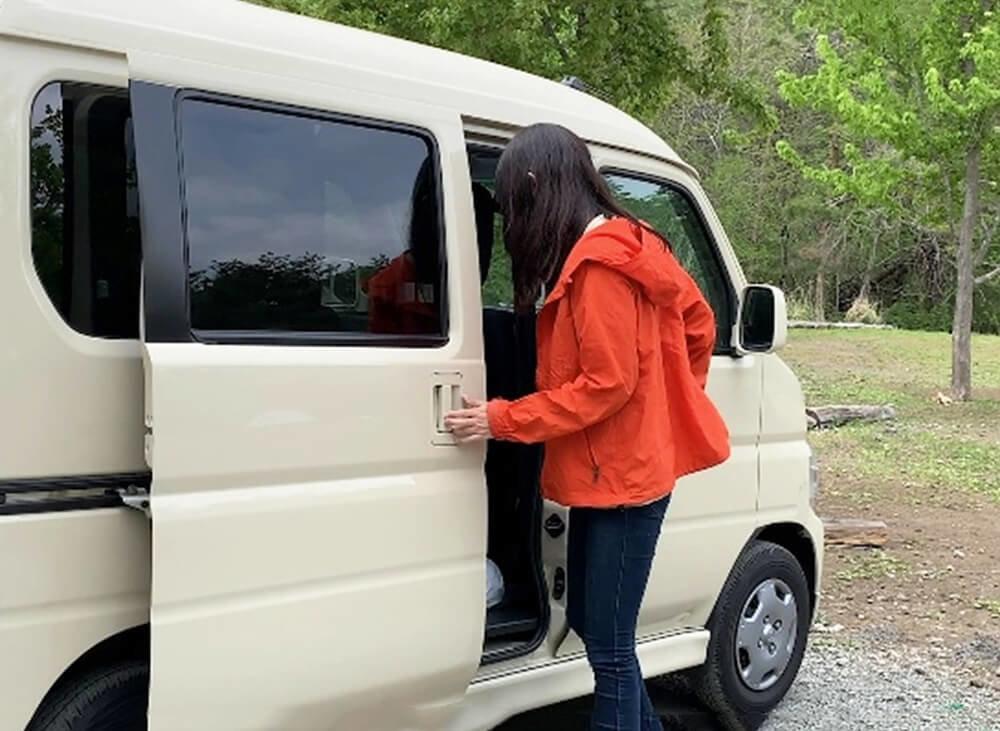 森風美さんの車中泊のクルマのイメージ