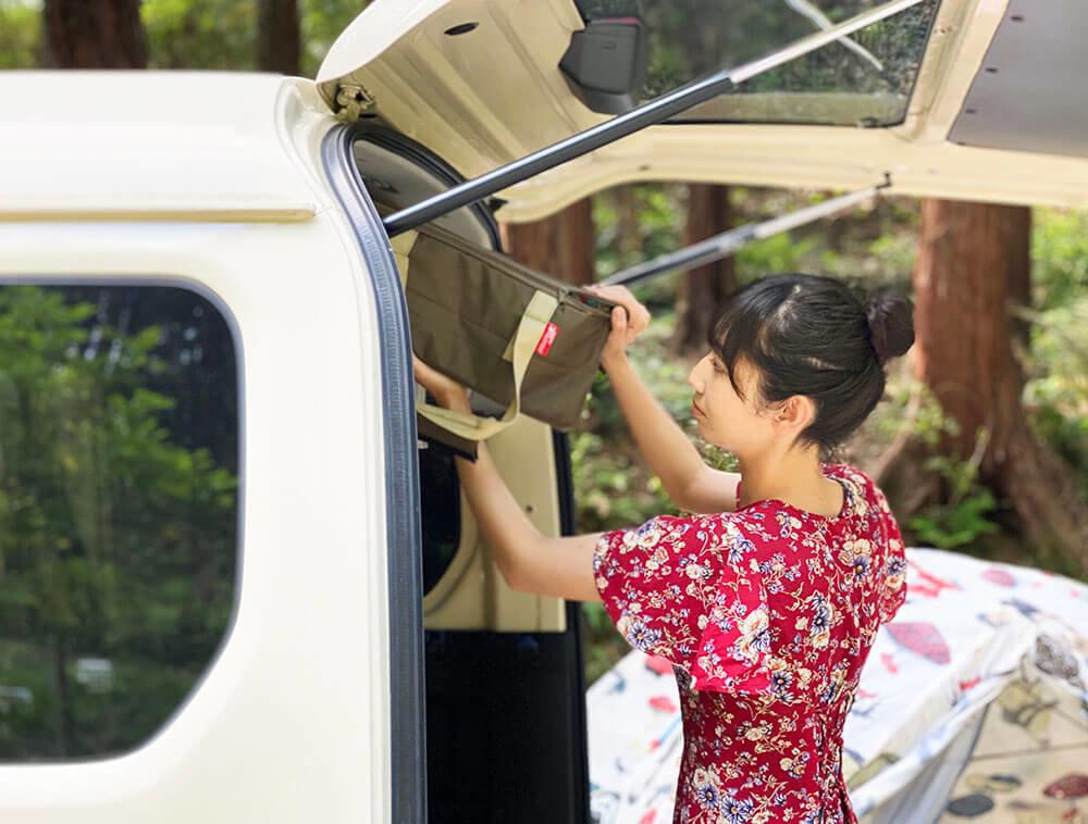 森風美さんと車中泊のクルマ