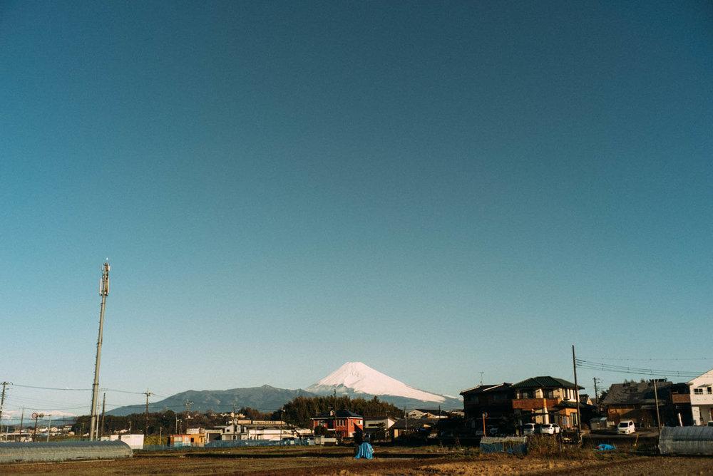 伊豆から見える富士山
