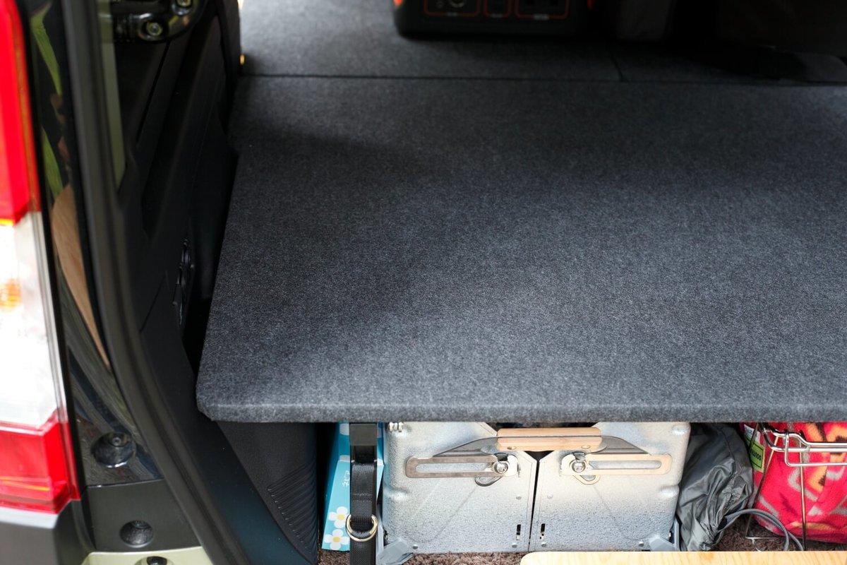 N-VANに設置したMGR Customsの車中泊専用ベッドキット