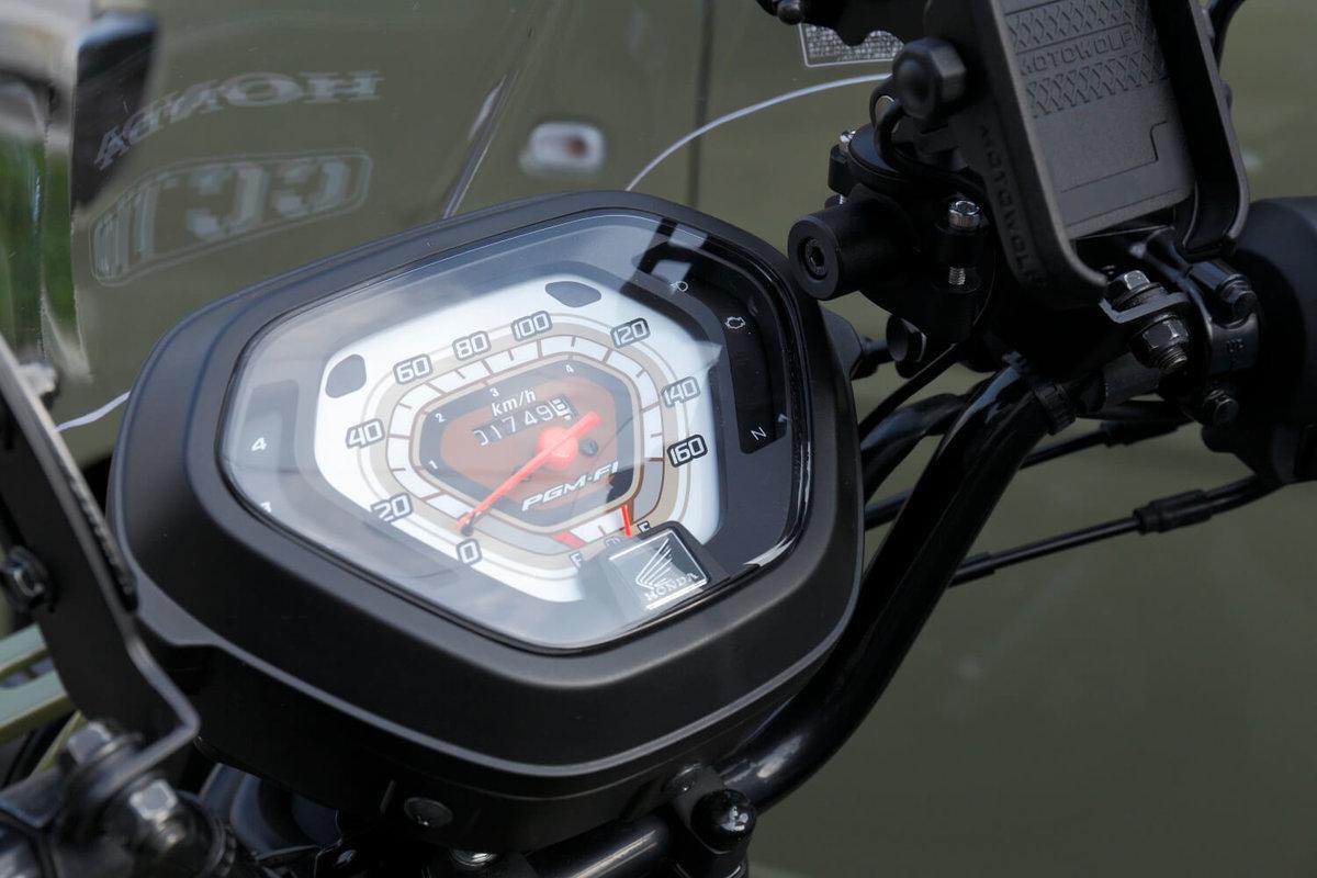 クロスカブをDIYカスタム改造。Hondaドリームスーパーカブのスピードメーターをクロスカブに取り付け