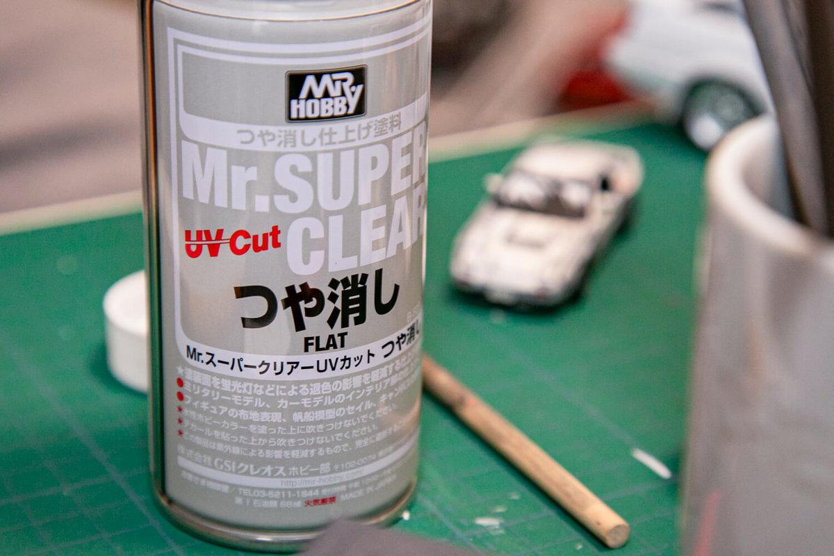 マンガ風塗装のメイキング。つや消しスプレーをかけて仕上げ