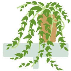 ラブちゃんの占い2020年10月秋_04観葉植物のイラスト