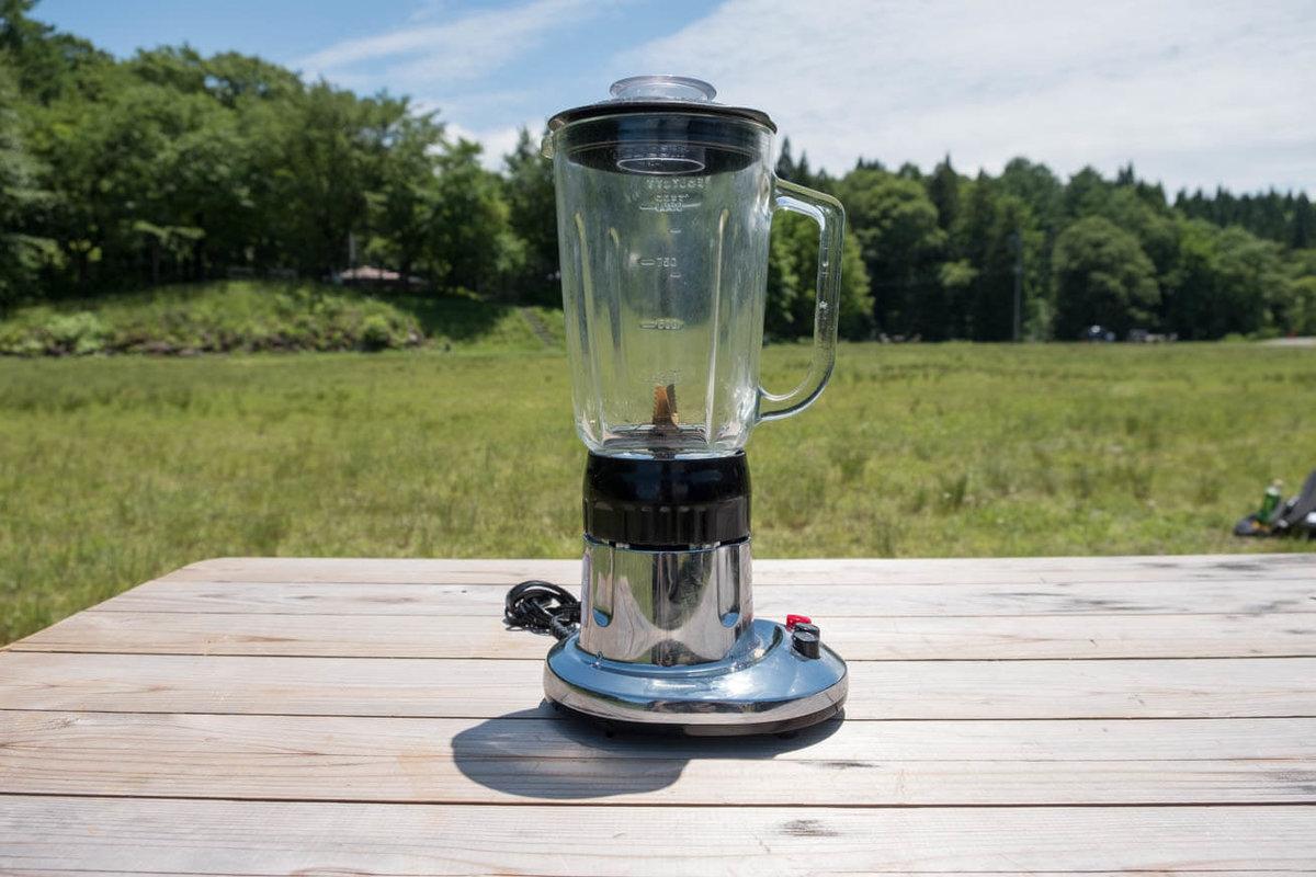 21_車中泊キャンプの調理道具とおすすめ調味料。電動ミキサー