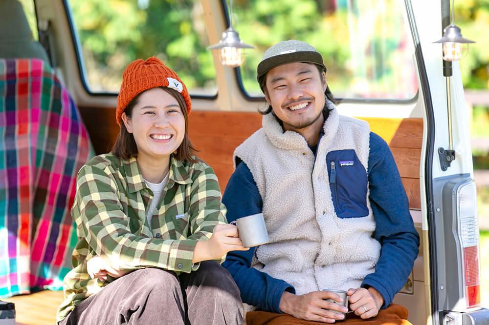 キャンプ民泊「NONIWA(ノニワ)」を経営する野あそび夫婦