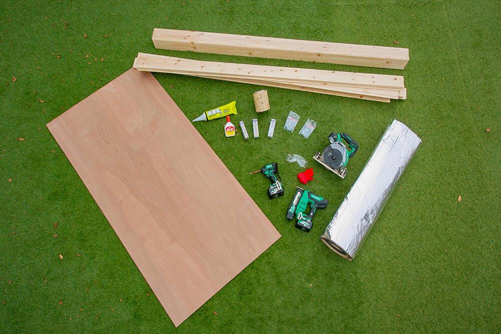 天井の板張りカスタムのために使う材料と工具