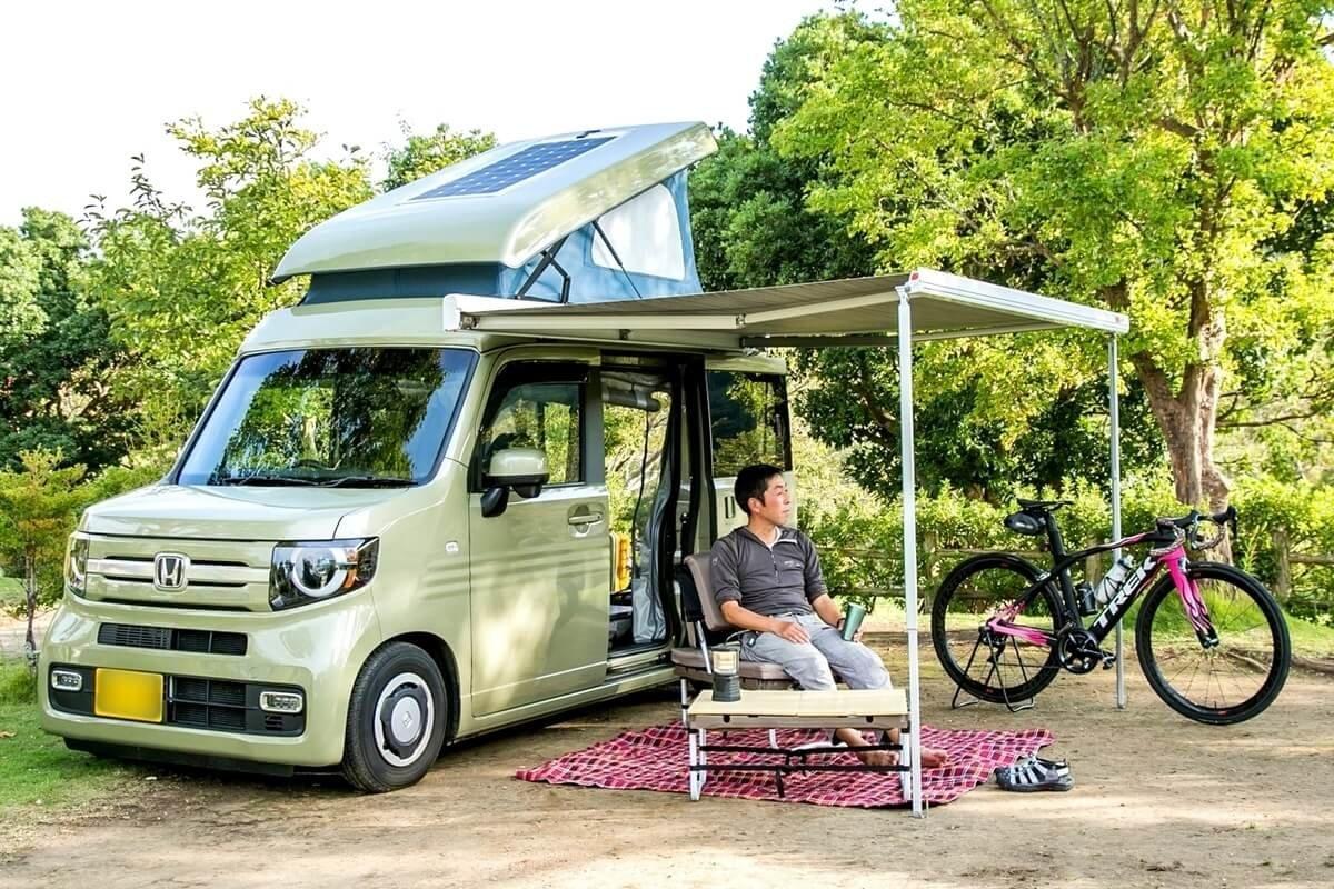 N-VAN COMPOのオーナーで、サイクリングやキャンプで使用している加美さん