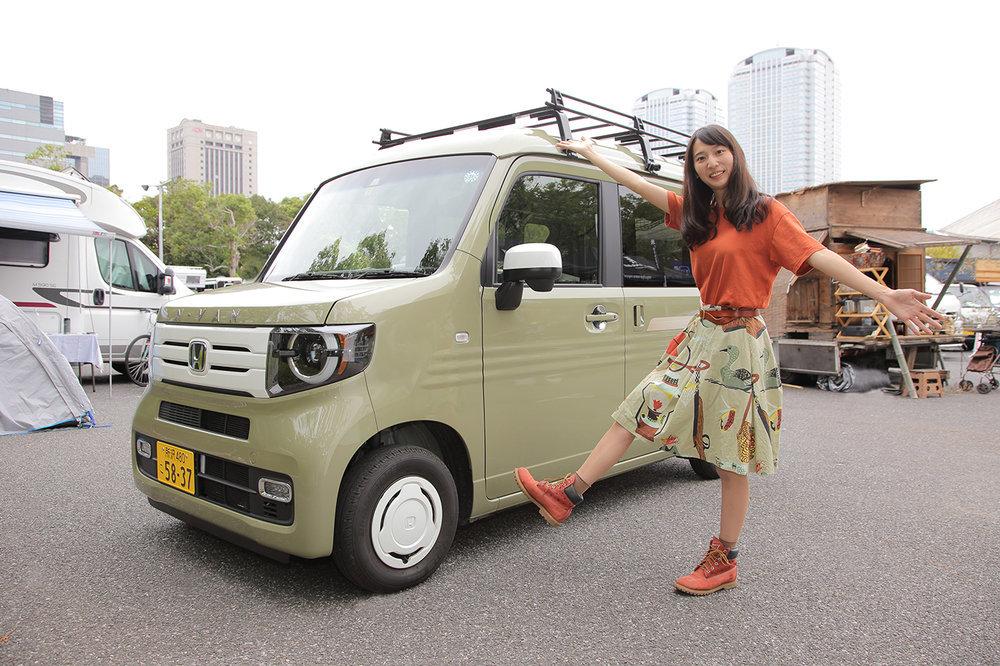 Hondaの軽自動車N‐VANと森風美さん