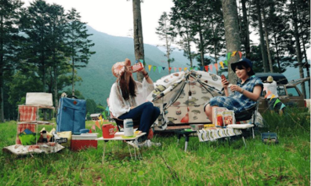 森風美さんがキャンプを始めたばかりのころの写真