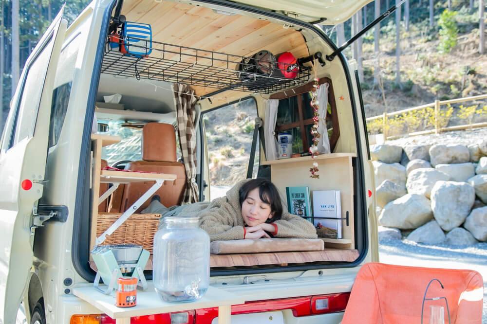 森風美さんの車中泊イメージ
