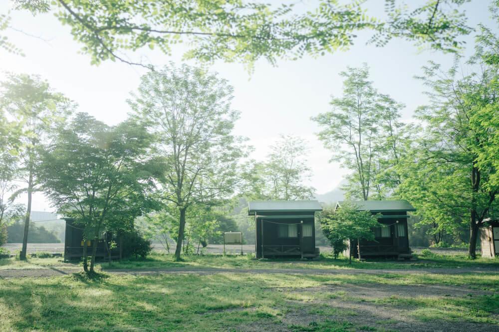 埼玉県のオートキャンプ場「秩父巴川オートキャンプ場」の全景画像