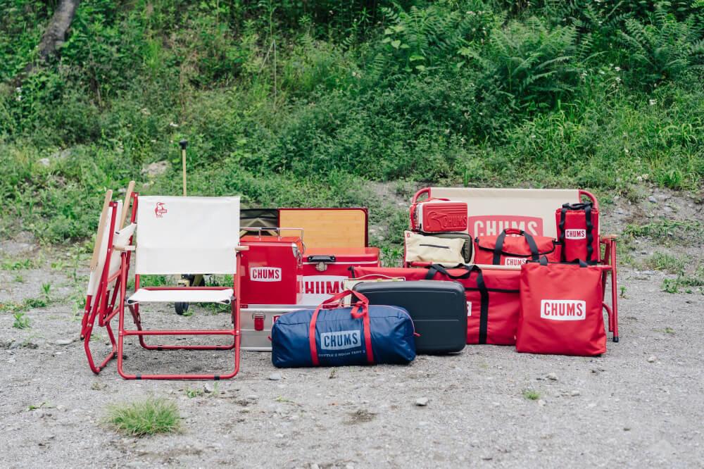 Honda N-WGNの荷室に載せたCHUMSのキャンプギア一覧