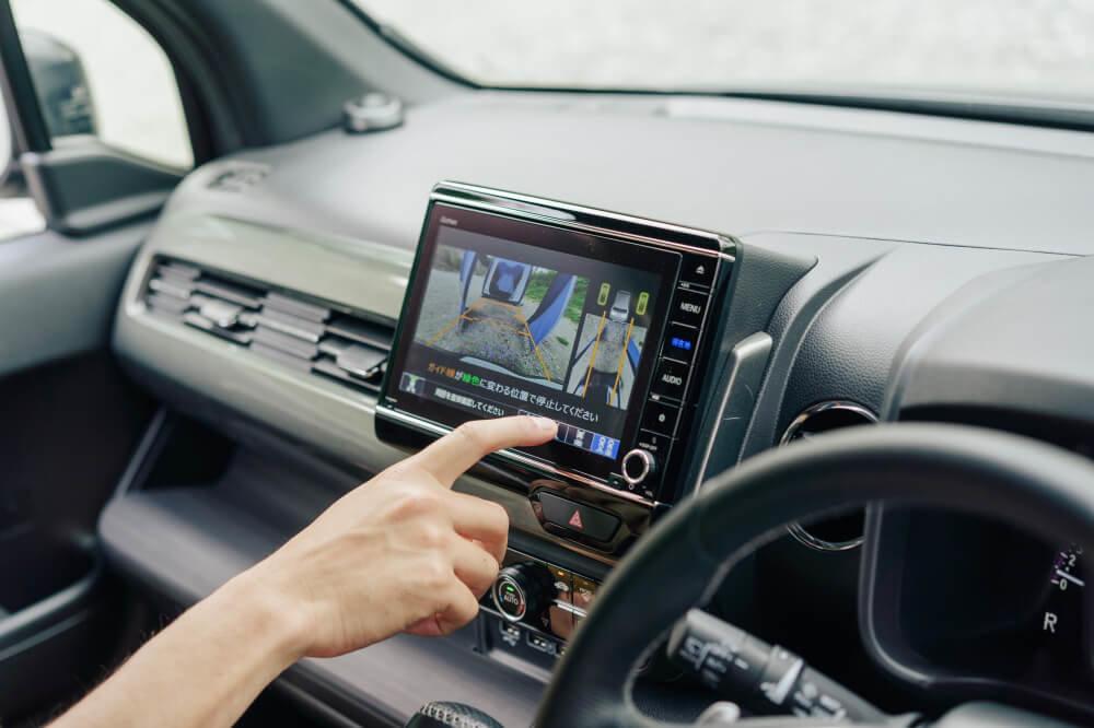 Honda N-WGNシリーズにオプション設定されている「リアカメラ de あんしんプラス3」
