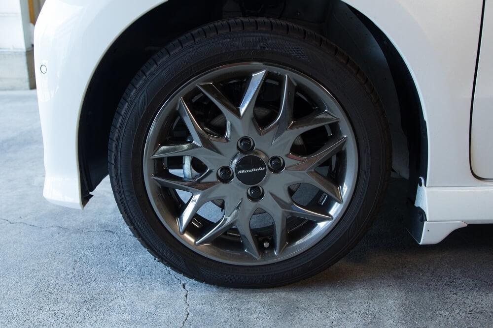 N-BOXのタイヤ周りの汚れ