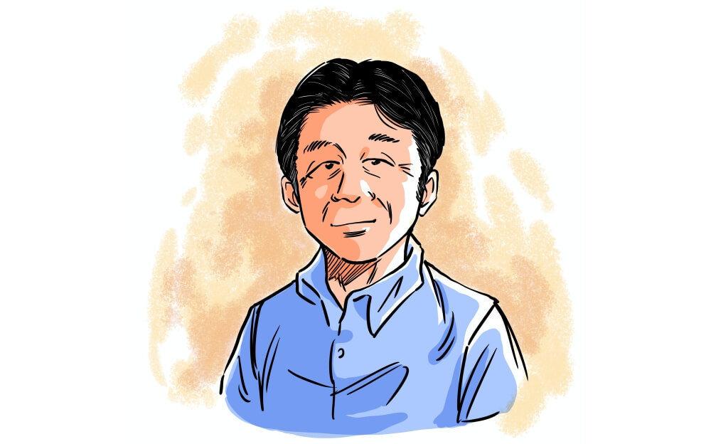 読売自動車大学校の北村眞一先生のプロフィールイラスト