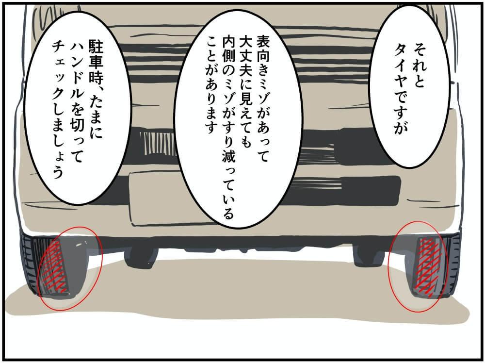 クルマのタイヤのイラスト