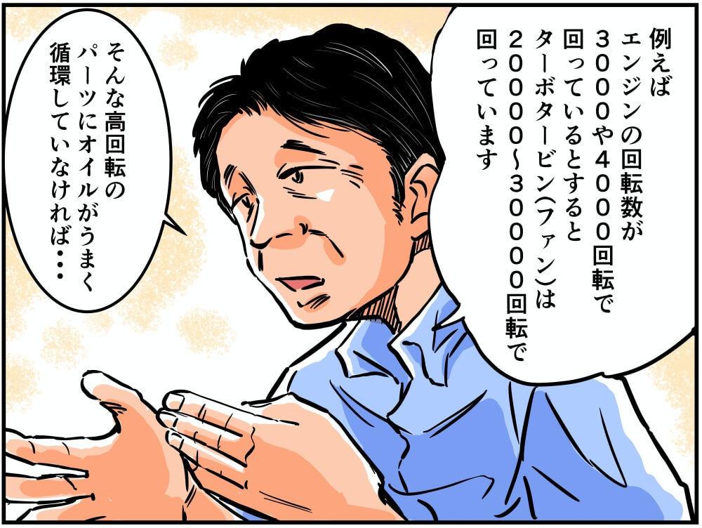 ビデオ会議でお話をする読売自動車大学校の北村眞一先生のイラスト