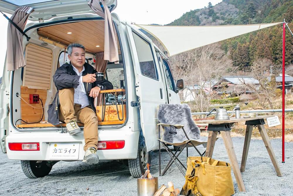 埼玉県飯能のケニーズ・ファミリー・ビレッジ/オートキャンプ場にて