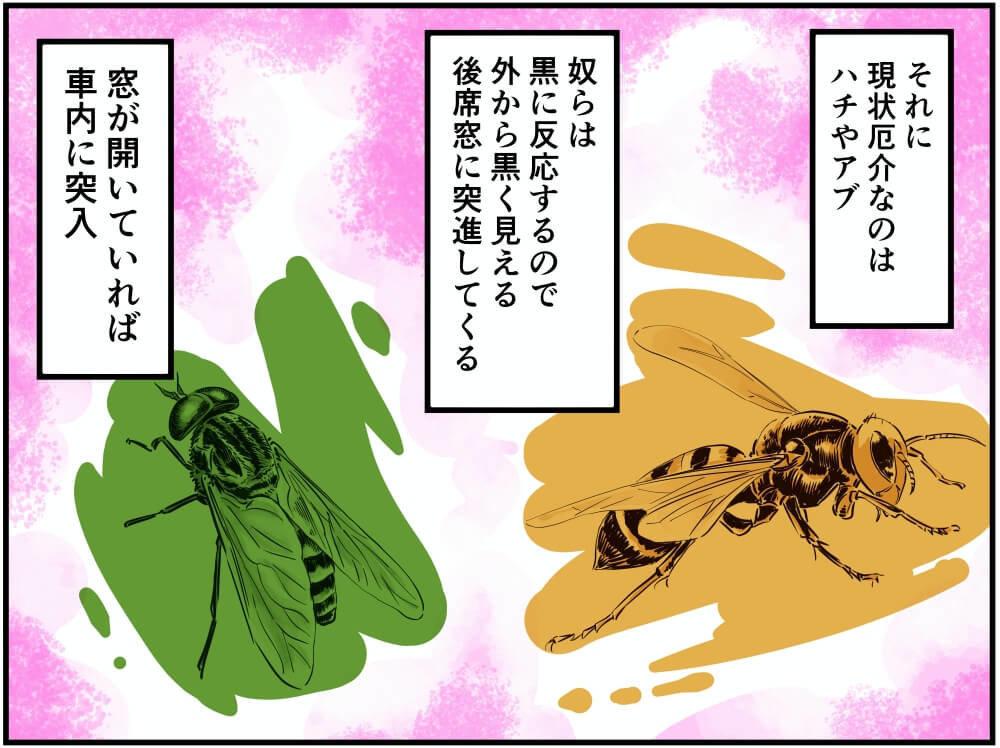 ハチとアブのイラスト