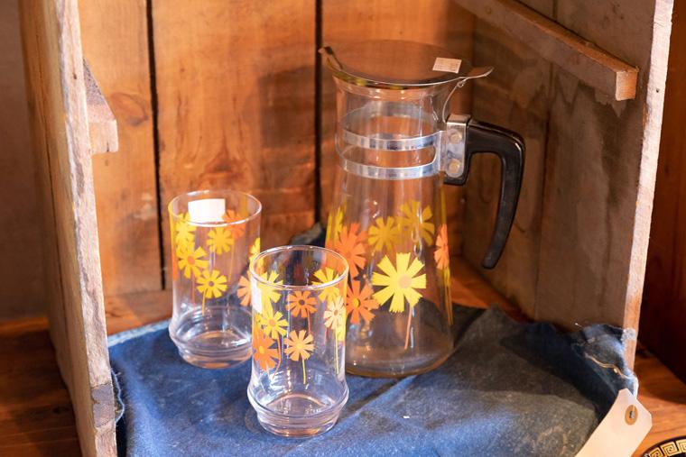 昭和レトロなガラスカップのセット
