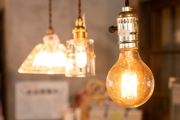 オリジナル食器照明