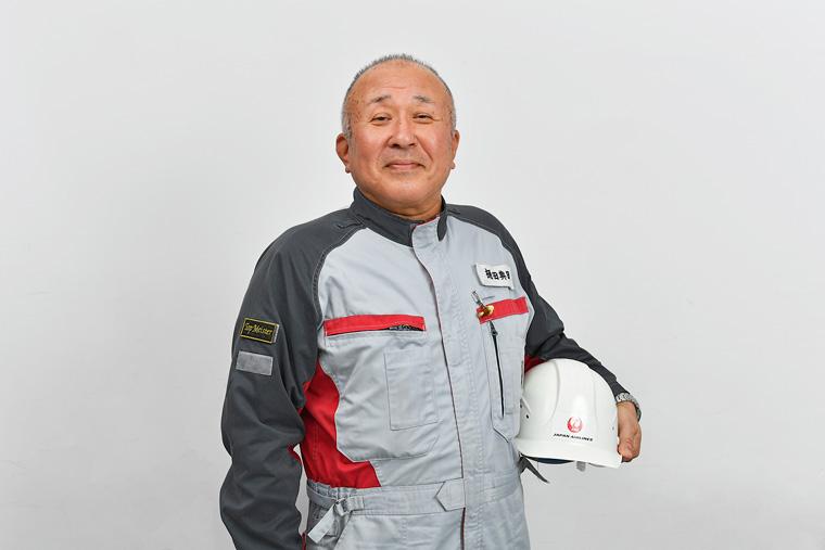 こちらがJALに所属する約3000人の整備士のなかで2人しかない「トップマイスター」である樋田 典昭さん