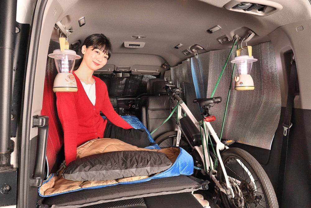 ステップワゴンなら広々と車中泊ができちゃいます