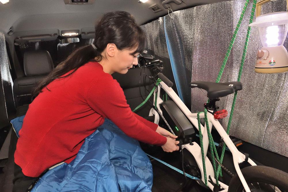夜はe-bikeの充電をチェックしたり、スマホで天気やコースマップを確認したりとユックリ過ごしましょう