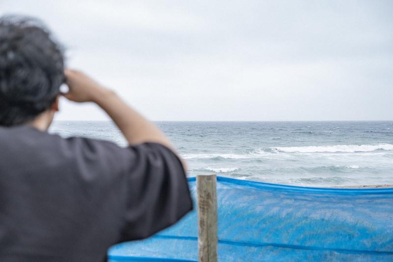 荒れる海の写真