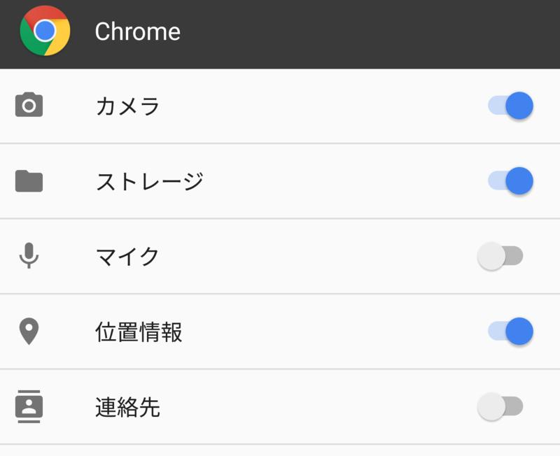 Chromeブラウザの権限数