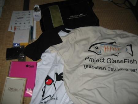 3 時間で学ぶ Java Hot Topic 2010/05/29で貰ったSunノベルティグッズ