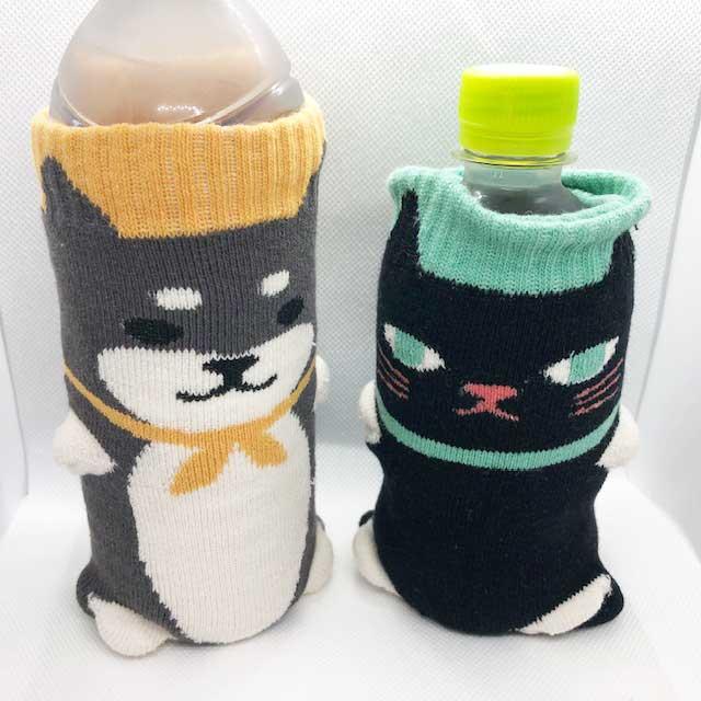 【キャンドゥ】キュートなニットボトルカバーはペットボトルの水滴を防止してくれる頼もしいヤツ!
