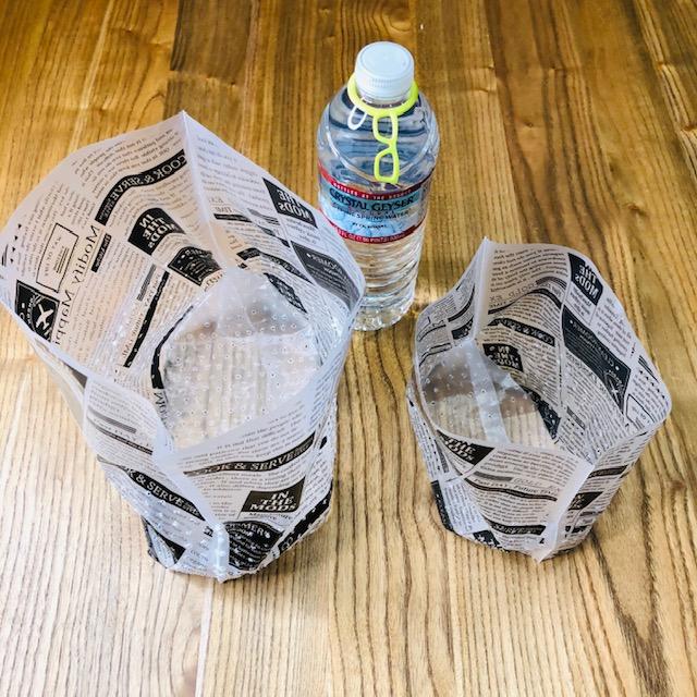 自立型 水切りゴミ袋のサイズ感