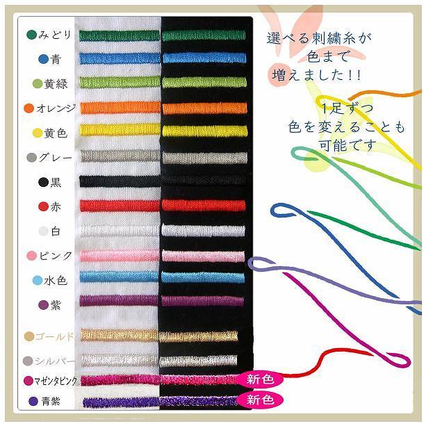 刺繍糸の種類は16種類