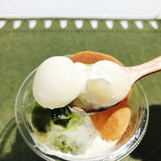 抹茶の和パフェ(抹茶ゼリー仕立て)白玉