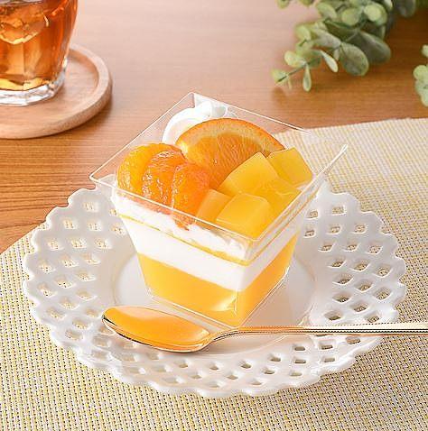 オレンジとみかんのパフェ